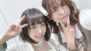 名古屋のアイドル応援少女、まりなとかすみん